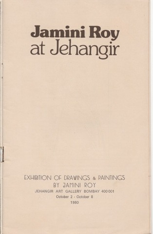 Jamini Roy At Jehangir - Exhibition of Drawings & Paintings