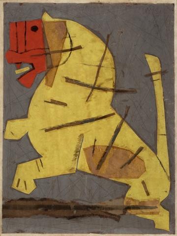 kite paper collage maqbool fida husain