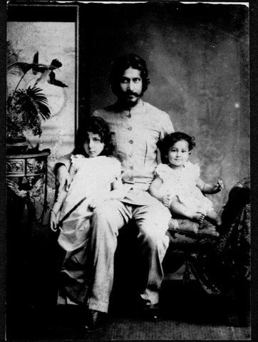 rabindranath tagore with baby rathindranath tagore