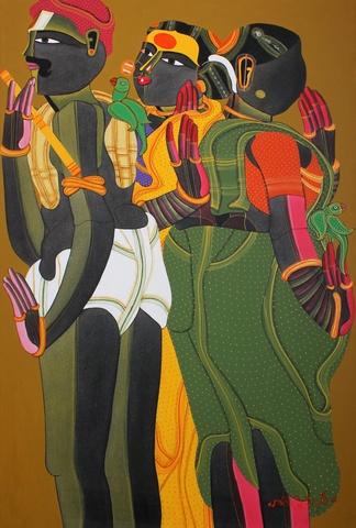 t. vaikuntam oil on canvas 36 in x 24 in