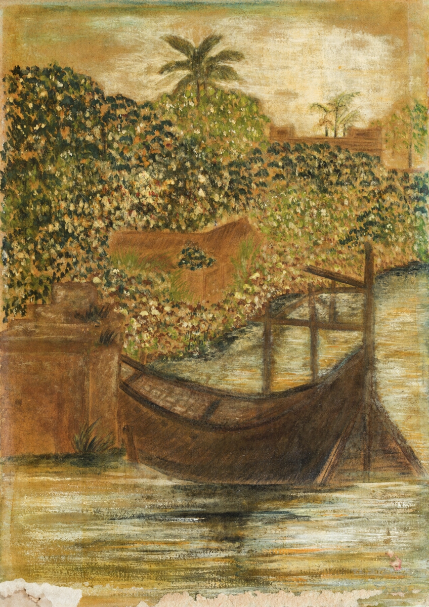 Untitled (Boat on Padma near Shilaidaha)