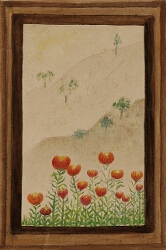 Untitled (Poppies through a Window in Kalimpong)