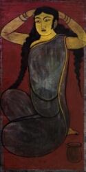 Untitled (Alpana / Seated Lady)