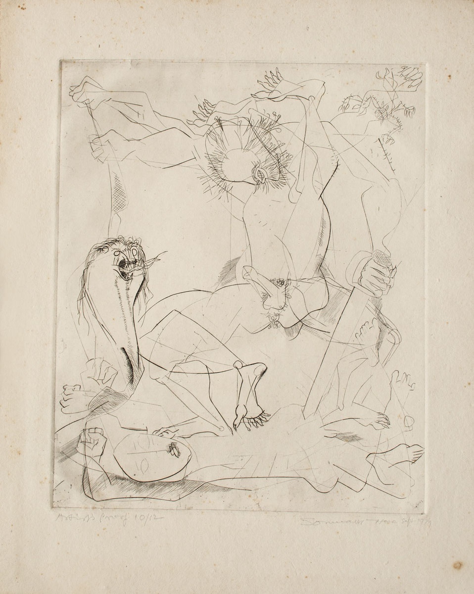 Untitled (Set of two erotic etchings)