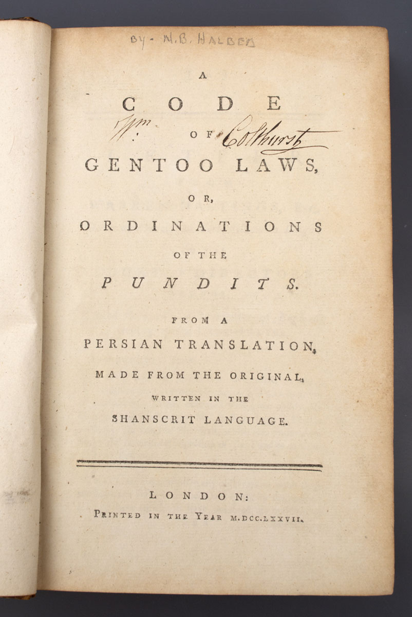A Code of the Gentoo Laws