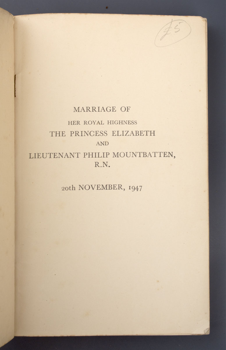 Marriage of Her Royal Highness The Princess Elizabeth and Lieutenant Philip Mountbatten Royal Navy : List of Wedding Gifts