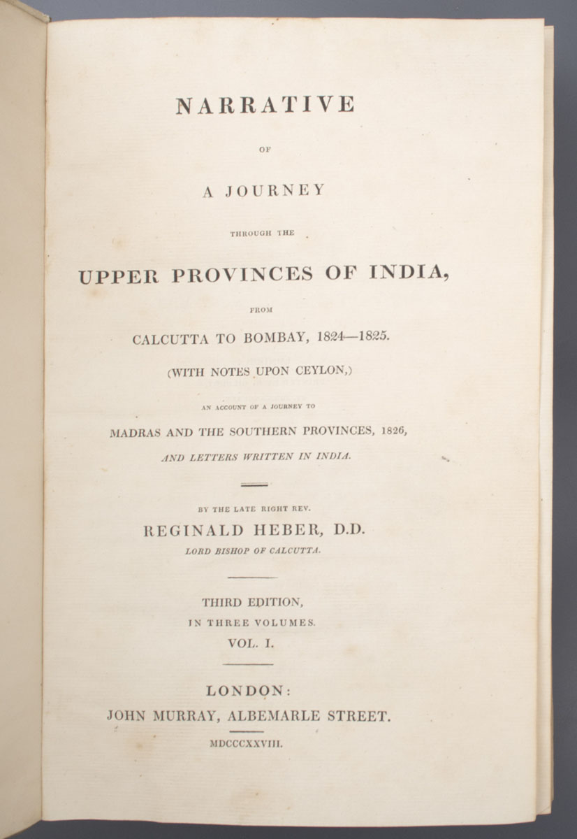 Narrative of a Journey through the Upper Provinces of India
