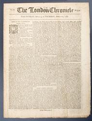 Newspaper, London Chronicle