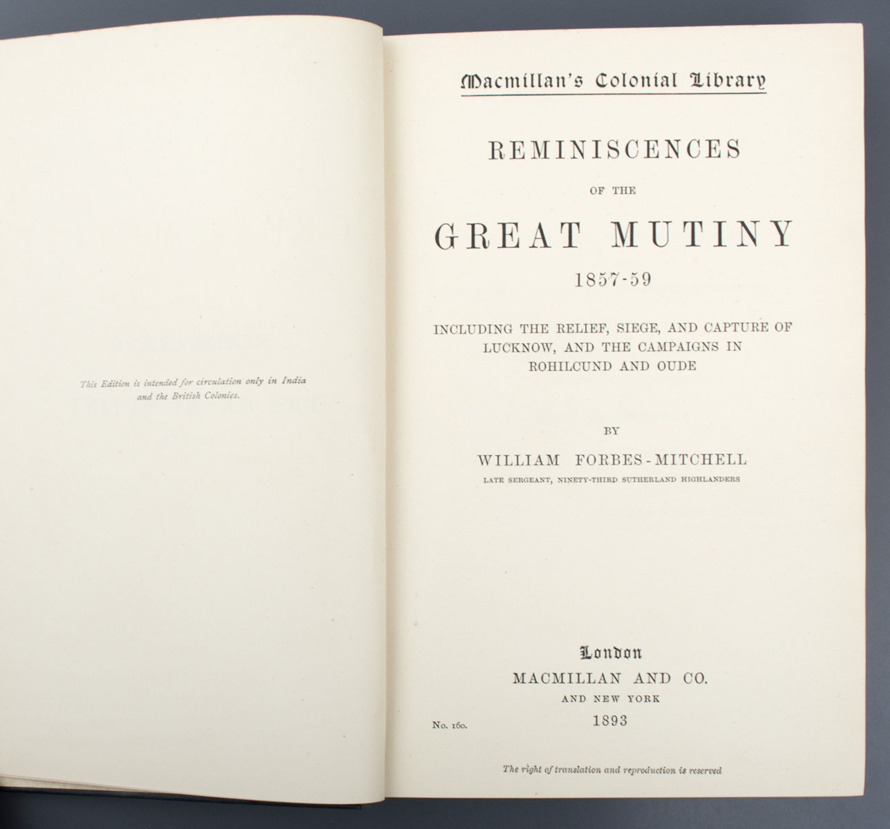 Reminiscences of the Great Mutiny 1857 - 1859