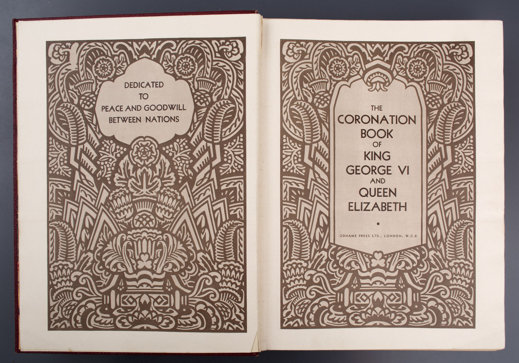 The Coronation book of King George VI and Queen Elizabeth