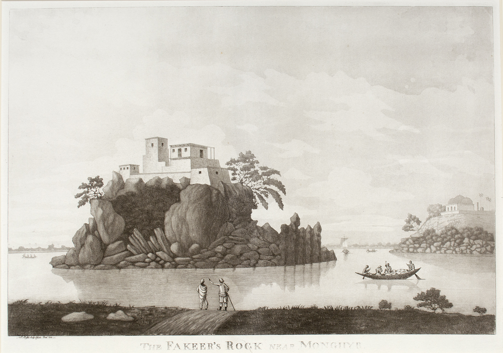 VIEW OF THE PALACE AT GHAZIPORE  &  THE FAKEER'S ROCK NEAR MONGHYR