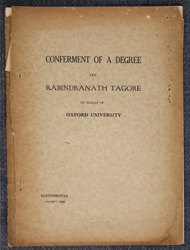 Conferment of a Degree on Rabindranath Tagore on behalf of Oxford University