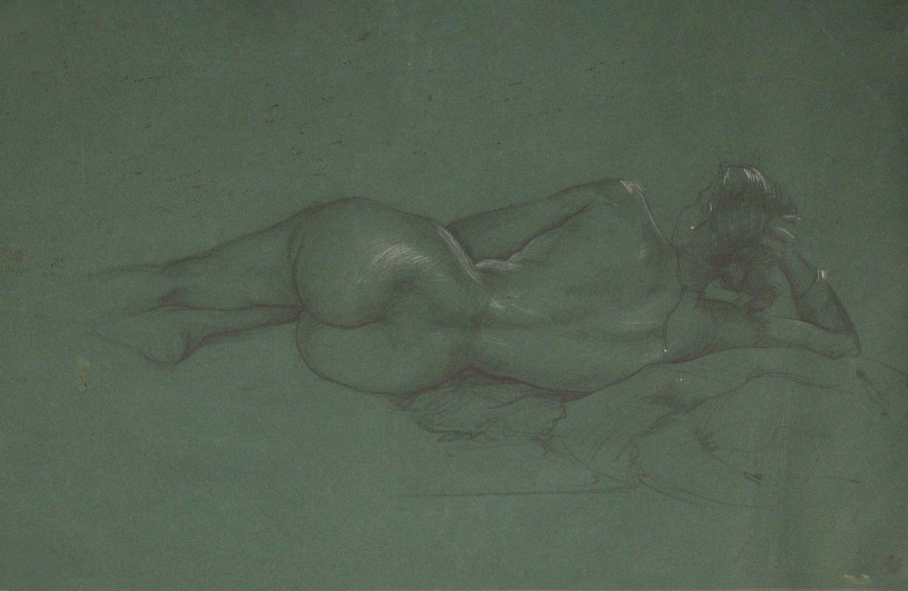 UNTITLED (Nude study in blue)
