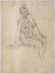 UNTITLED (Nude study of woman sitting)