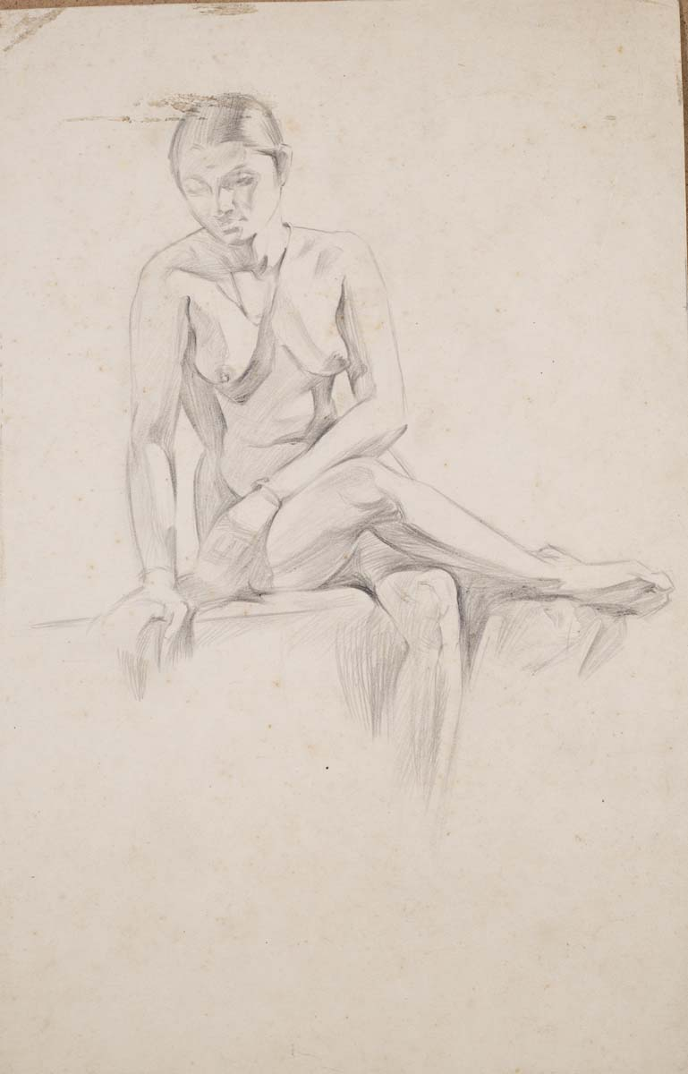 UNTITLED (Nude study with legs crossed)