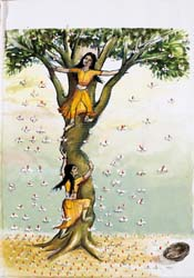 UNTITLED (Two girls climbing a tree)