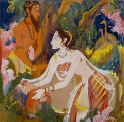 UNTITLED (Vishwamitra, Menaka and Shakuntala)