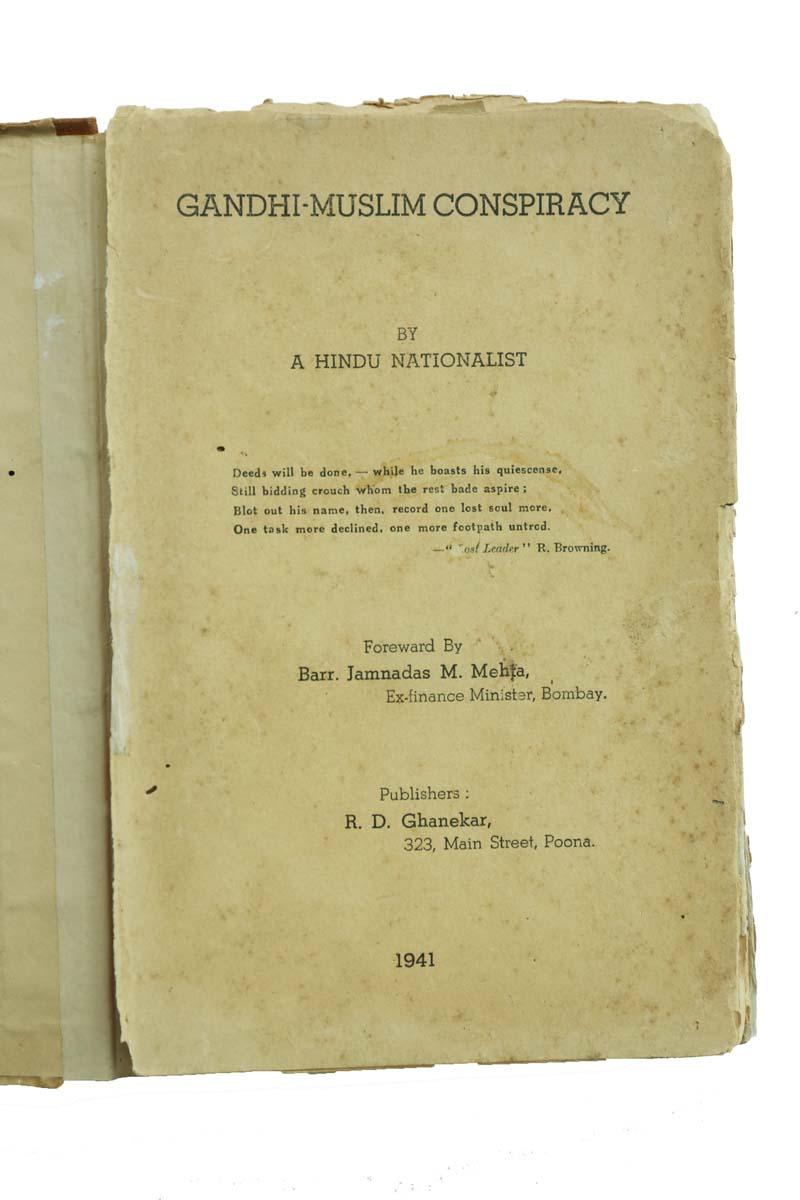 GANDHI - MUSLIM CONSPIRACY