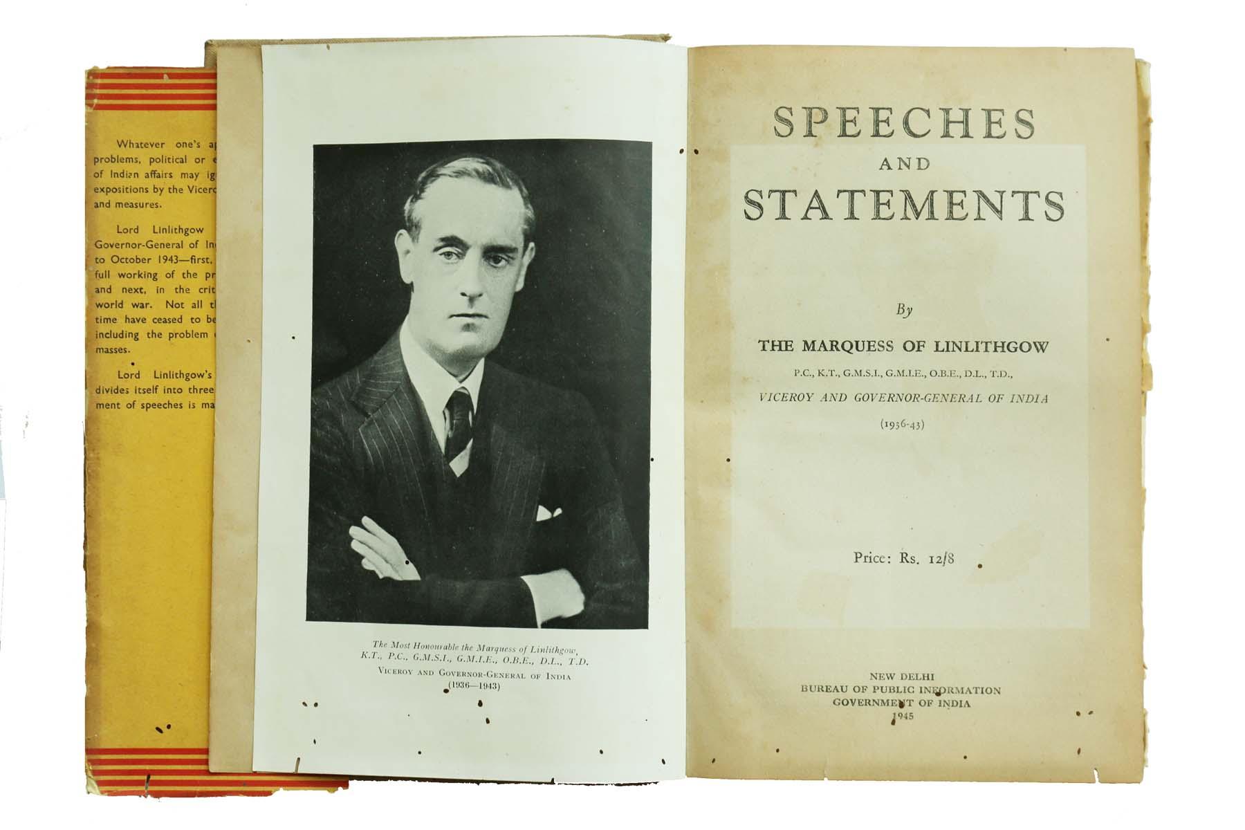 INDIAN SPEECHES (1936 - 43)