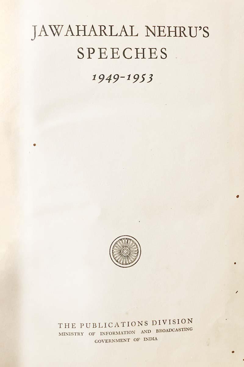 JAWAHARLAL NEHRU'S SPEECHES 1949-1953
