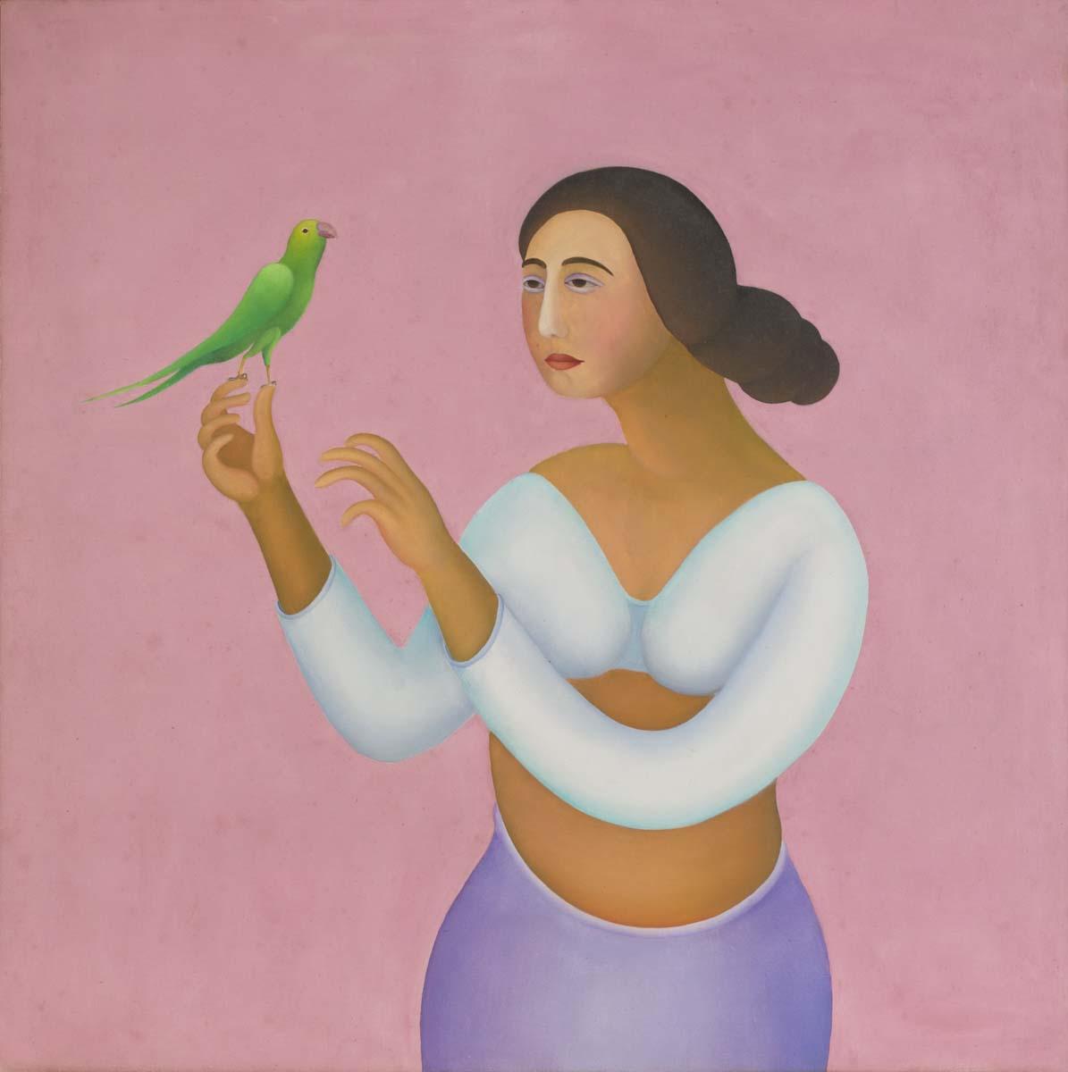 LADY WITH BIRD