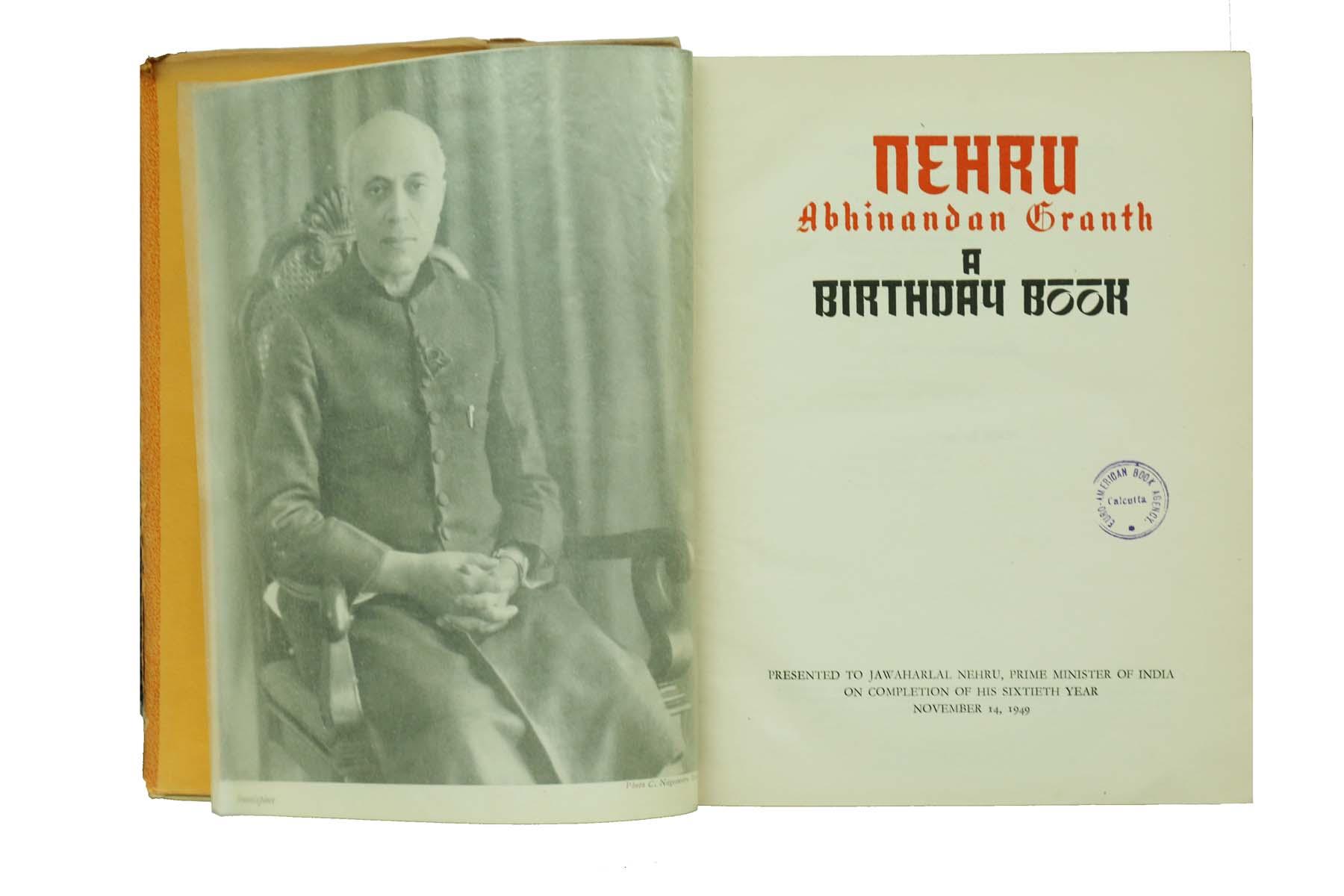 NEHRU BIRTHDAY BOOK