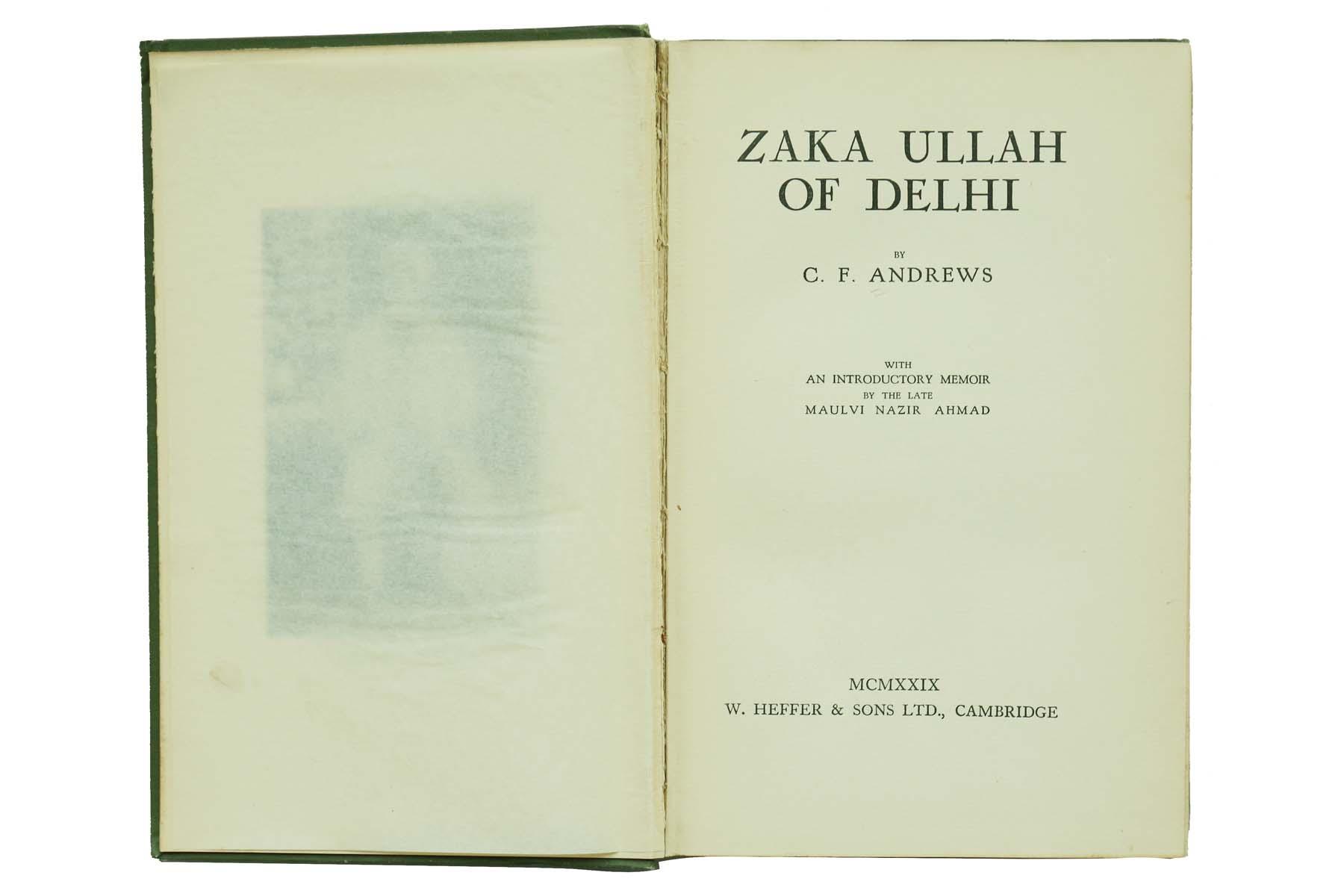 ZAKA ULLAH OF DELHI