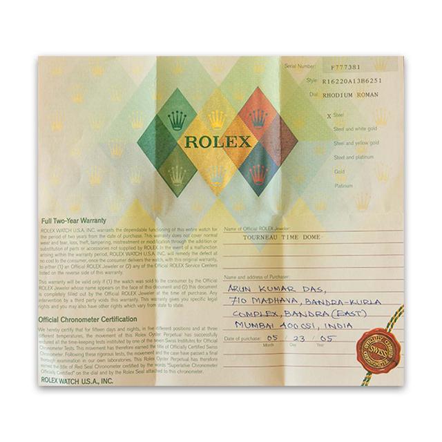 Rhodium Dial Rolex
