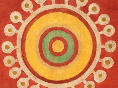 Jamini Roy's 1930's Alpana on Cloth