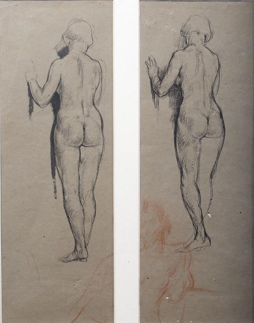 TWO FEMALE NUDES STANDING