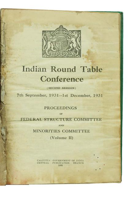 INDIAN ROUND TABLE CONFERENCE VOLUME 2 (SECOND SESSION)