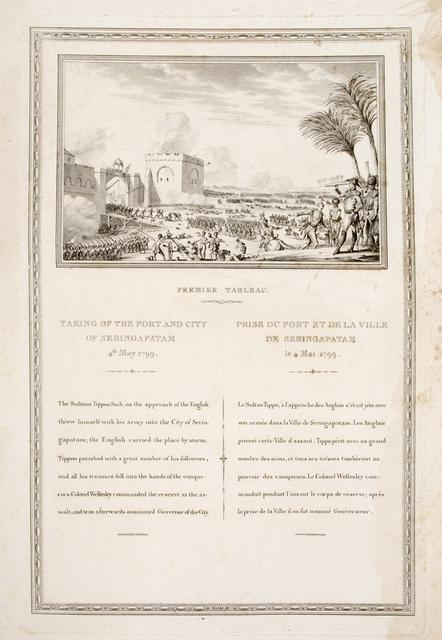 TAKING OF THE FORT AND CITY OF SERINGAPATNAM