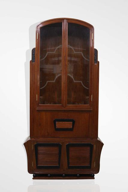 Teak wood Art deco bar cabinet