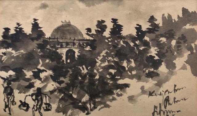 Untitled (Tomb through Foliage)