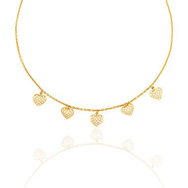 An everyday simple chic diamond necklace