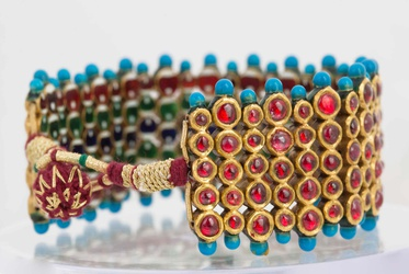 Estate Ruby And Enamel Bracelet