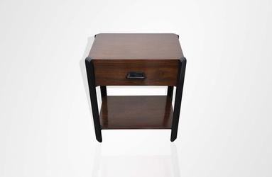 Teakwood side table with ebonite detail