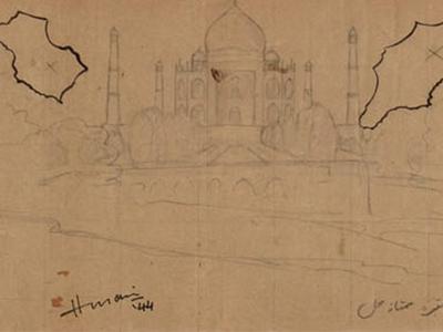 Maqbool Fida Husain - Taj Mahal