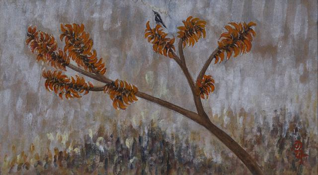 Untitled (Palash Tree with Birds)