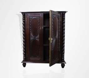 Rosewood Portuguese half cabinet