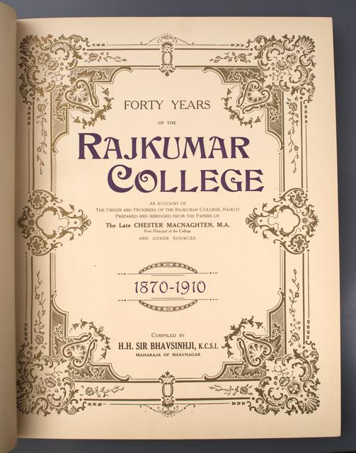 Forty Years of the Rajkumar College