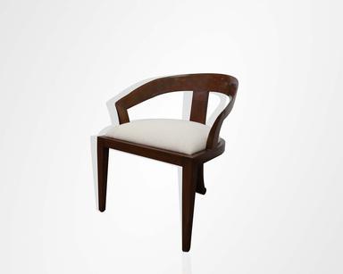 Teakwood art deco chairs