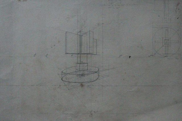 UNTITLED (Bust/Geometrical plan of a sculpture)