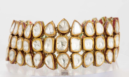 Estate Diamond And Enamel Jadau Bracelet