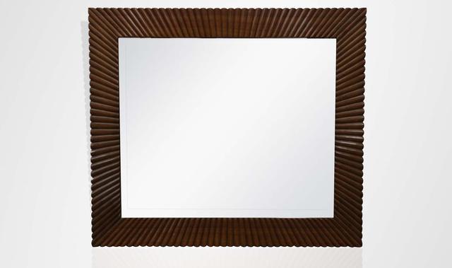 Art deco satinwood mirror frame