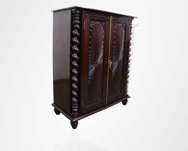 Rosewood Portuguese half cabinet