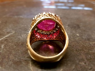 Burmese Ruby 16ct Antique Cushion Cut