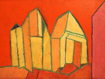 K S Kulkarni's Abstract Landscape