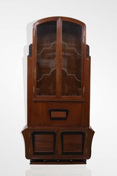 Teak wood Art deco bar cabinet