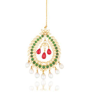 Gemset maang tika or forehead ornament